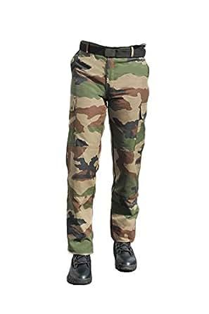 Gilbert Production - Pantalon et ceinture ajustable Adulte Camouflage Ripstop - Mixte (38)