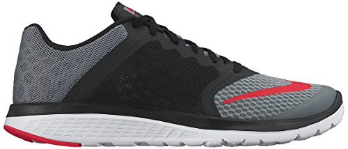 Nike Fs Lite Run 3, Scarpe da Corsa Uomo, Talla Multicolore (Gris / Naranja / Negro / Blanco (Cool Grey/Brght Crmsn-Blck-Wht))