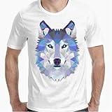 Camiseta - diseño Original - Lobo Diamantino - M