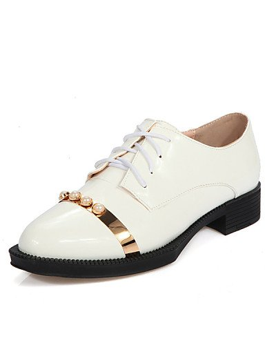 ZQ hug Scarpe Donna-Mocassini-Tempo libero / Casual-Zeppe-Basso-Pelle di altri animali-Nero / Bianco , white-us8 / eu39 / uk6 / cn39 , white-us8 / eu39 / uk6 / cn39 white-us5 / eu35 / uk3 / cn34