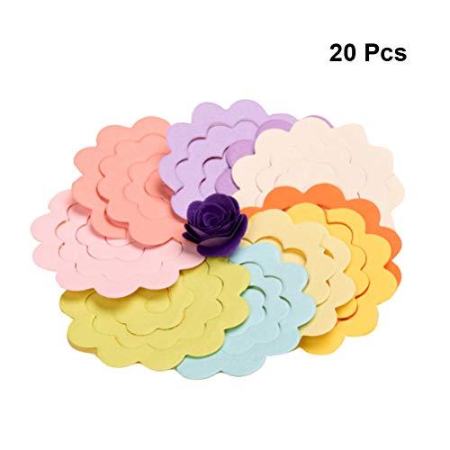 Healifty 20 Piezas de Origami Paper Sheets Hechos a Mano Rose Flower...