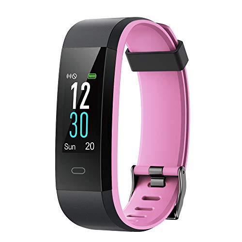 YAMAY Fitness Armband mit Pulsuhr,Wasserdicht IP68 Schrittzähler Fitness Uhr Farbbildschirm Fitness Tracker Pulsmesser Smartwatch Aktivitätstracker Sportuhr für Damen Herren für iOS Android Handy (Tracker Ios)