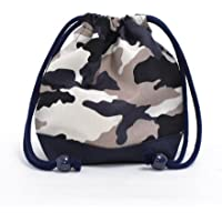 Preisvergleich für Drawstring Gokigen lunch (small size) with gusset glass bag camouflage gray x Ox navy blue made in Japan N3566700 (japan import)