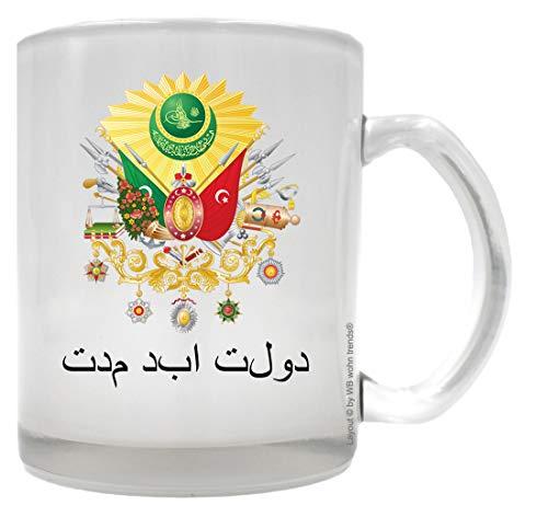 WB wohn trends Tee-Glas mit beidseitigem Motiv ~ Wappen Osmanisches Reich der ewige Staat ~ Farbe:...