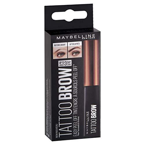 Maybelline Tattoo Brow Augenbrauenfarbe Nr. 1 Light Brown, trendige Augenbrauenfarbe mit bis zu 3 Tage Halt, spezielle Peel-off-Formel für eine einfache Anwendung
