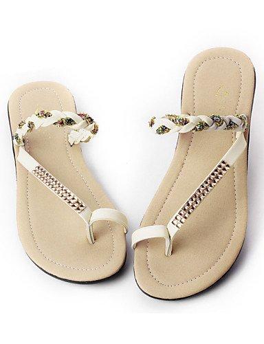 ShangYi Sandaletten für Damen Damenschuhe - Halbschuhe - Lässig - Kunststoff / Kunstleder - Flacher Absatz - Flip Flops - Schwarz / Grün / Weiß Green