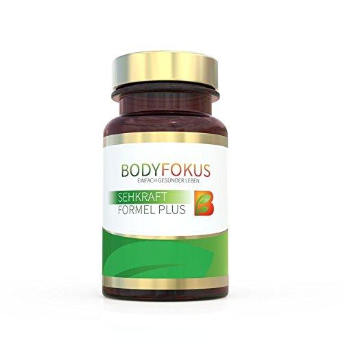 BodyFokus Sehkraft Formel Plus - Augen unterstützen - 1 Dose - Extrakt Antioxidantien-formel