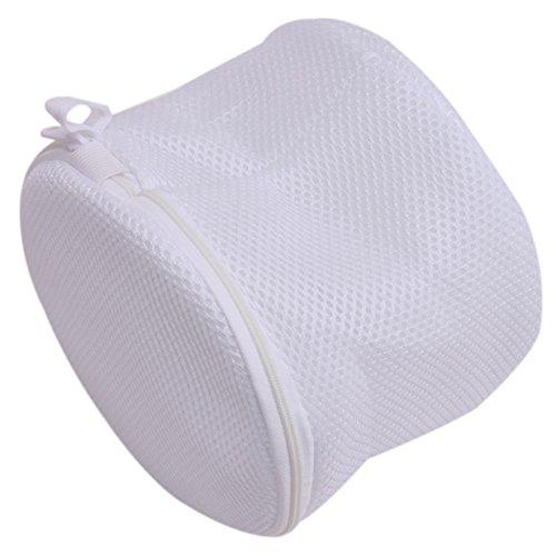 Lalang Wäschesack, Wäschenetz Wäschebeutel mit Reißverschluss Ideal für BH Waschbeutel, Unterwäsche, Socken, Strumpfhosen, Babysachen (Weiß)
