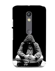 MakeMyCase BlackMan For Motorola X PLAY