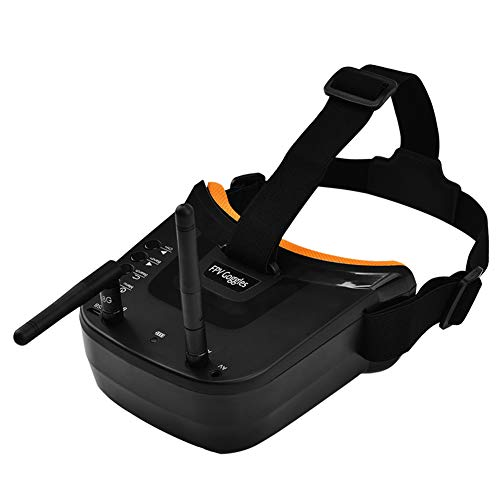 XZANTE Mini FPV Gafas de Protección 3 Pulgadas 480X320 Exhibición de Recepción de Doble Antena 5.8G 40Ch con Batería para RC FPV Racing Drone Quadcopter