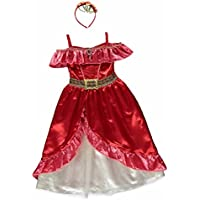 New George Disney Elena of Avalor Kids Girls Fancy Dress Outfit Costume [5-6]