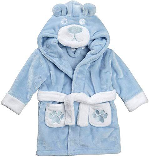 BabyTown Bata bebé diseño Oso Peluche Azul, 6-12