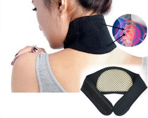 Nackenbandage Nackenstütze Turmalin Halsbandage mit 3 Magneten R-031