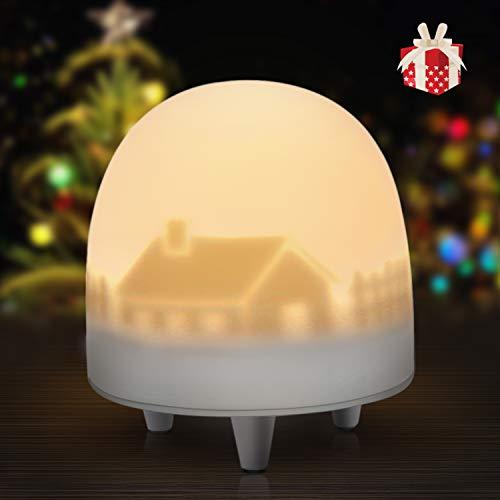 VOXON LED Nachtlicht für Kinder, Wiederaufladbare Silikon Kinder Lampe Nachtleuchte LED Nachtlampe mit Warm-Licht und Farbwechsel Modi, Touch Control, 0,5H Timer für Wohnräum Deko und Geschenk