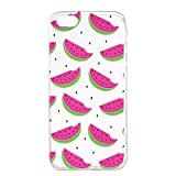 iPhone SE Case, iPhone 5 Soft Case, iPhone 5S Clear Back Cover, Cozy Hut Ultra Light Slim Shockproof Silicone TPU Gel Case [Ultra-Thin] [Lightweight] [Anti-Scratch] [Drop Protection] Transparent Protective Back Cover For iPhone SE/5/5S 4.0 Inch - Small watermelon