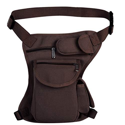 squarex ® Fashion Herren Outdoor-Sporttasche Multifunktions-Beintasche mit großem Fassungsvermögen Taktisches Paket Freizeittasche Hüfttasche Handtasche