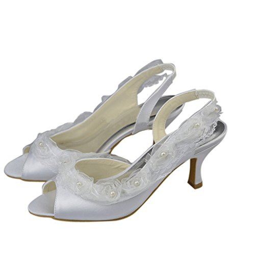 Minitoo , Sandales pour femme White-6.5cm Heel