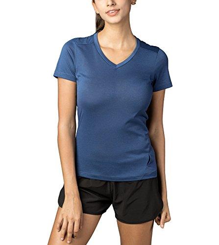 LAPASA T-Shirt de Sport Femme Ultra Doux et Confortable...