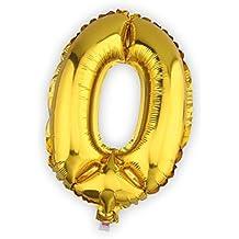 Globo de helio 40cm. con adhesivos número 0