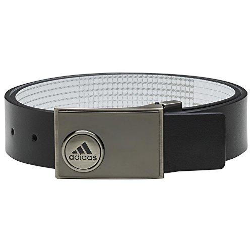 Adidas - Cintura In Pelle Da Golf Per Uomo, Colore Nero/Verde, Taglia M