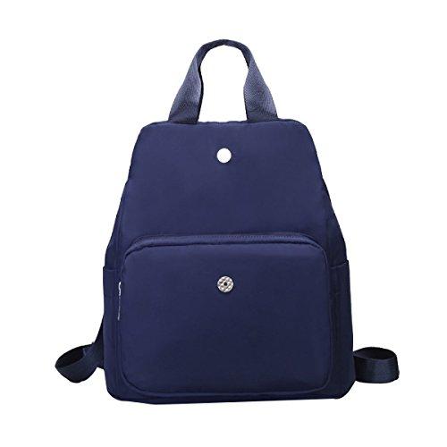 Nylon Damen Wasserdicht Licht Mode Vielseitig Große Kapazität Rucksack Multi-Color Optional Blue