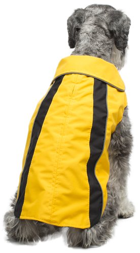 Legitimutt Storm Tech Regenmantel für Hunde, Größe 16, Gelb/Schwarz Storm Peak