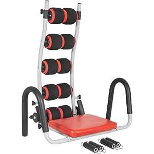 Gorilla Sports AB CORE Appareil de fitness pour abdominaux/dorsaux Rouge