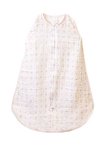 0 to 6 Months SwaddleDesigns Cotton Muslin Sleeping Sack with 2-Way Zipper Sterling Dots