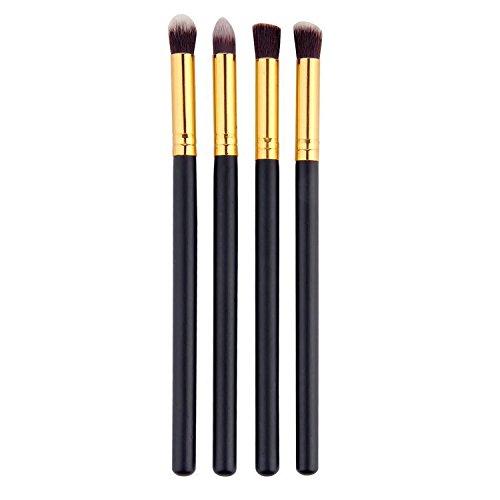 Vococal® 4pcs Maquillage professionnel outil cosmétiques fard à paupières poudre Fondation pinceau fusion mis en