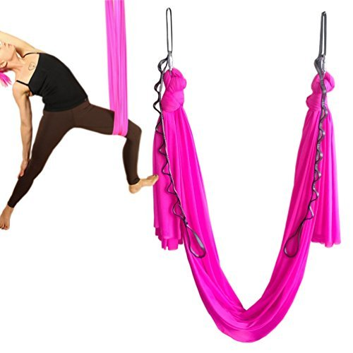Qualified Elastic 5 Meters Aerial Yoga Hammock Swing Latest Multifunction Anti-gravity Yoga Belts For Yoga Training Yoga For Sporting Yoga Belts