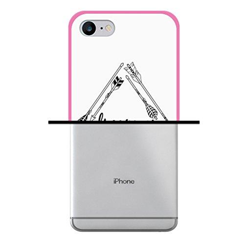 iPhone 7 Hülle, WoowCase Handyhülle Silikon für [ iPhone 7 ] Weisse Schokolade und Waffel Handytasche Handy Cover Case Schutzhülle Flexible TPU - Transparent Housse Gel iPhone 7 Rosa D0404