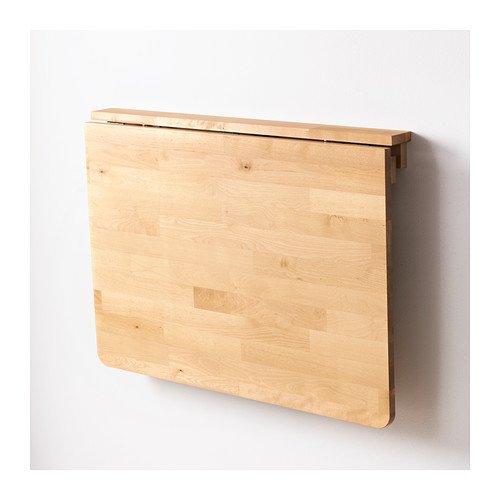 Tavolo Pieghevole Legno Ikea.Ikea Tavolo Con Piano Ribaltabile Norbo Montaggio A Parete In