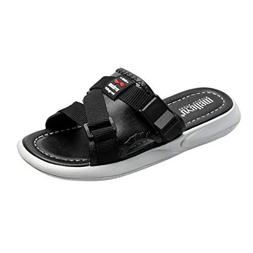 (Yvelands Damen Strand Sandalen Mode Männer Paare Casual Plattform Hausschuhe Outdoor Schuhe(Schwarz,39))