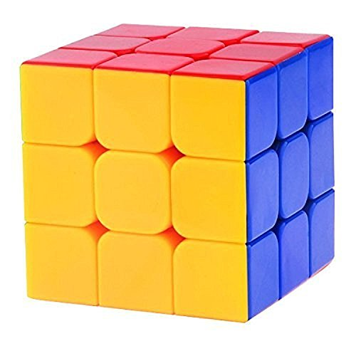 PurpleFly High Stability Stickerless - 3x3x3 Speed Cube, Multi Color