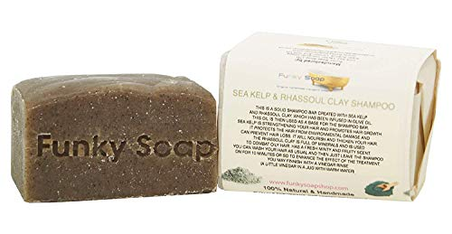 Funky Soap Seetang & Rhassoul Tonerde Shampoo 100% Natürlich Handgemacht, 1 bar Of 120g -