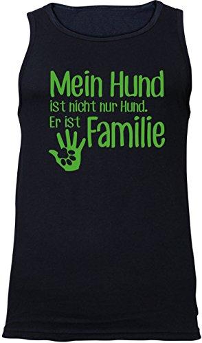 ezyshirt® Mein Hund ist nicht nur Hund! Er ist Familie Herren Tanktop Schwarz/Gruen