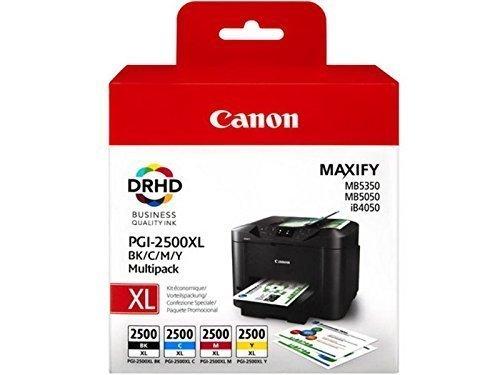 1x Cartuchos de Tinta originales (para Canon PGI-2500para Canon MAXIFY MB 5050–BK, Cy, Ma, Ye––