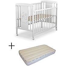 Cuna para bebé, modelo cielo Mundi Bebé + Colchón Viscoelástica + Protector ...