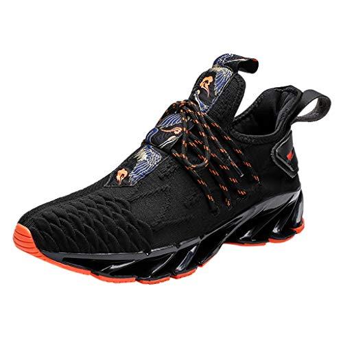 JJggsi4_Scarpe da Corsa da Uomo Scarpe Sportive Traspiranti con Suola Atletica Antiurto per Corsa all'aperto Sneaker per Uomo