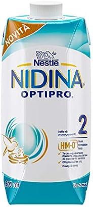 Nestlé Nidina Optipro Latte di Proseguimento Liquido, Confezione da 12 x 500ml