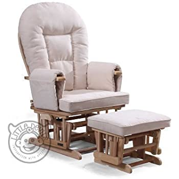 CREAM SUPREMO BAMBINO FABRIC NURSING GLIDER