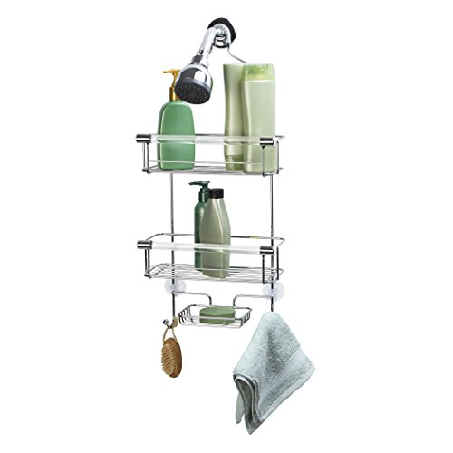 Richards Homewares Crystal Chrome/Acrylic Bath Caddy - Chrome Bath Caddy
