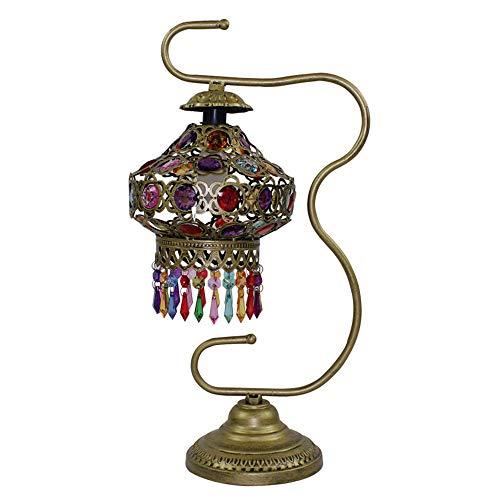 LJJY Glas tischlampe acryl handgefertigte perlen Eisen anhänger quaste nachttischlampe Garten hochzeitsgeschenk Hochzeit inneneinrichtung tischlampe - Schwanenhals-anhänger-stecker