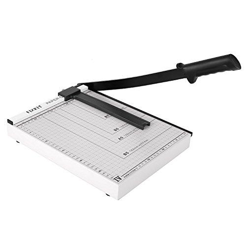 FIXKIT Papierschneidemaschine, DIN A4 Hebelschneider, mit einer Schnittlänge von 32cm, für Gutschein, Bastelpapier, Etikett und Foto