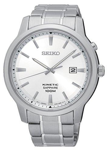 Seiko Herren Analog Quarz Uhr mit Edelstahl Armband SKA739P1