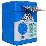 SaShi Kids Plastic Smart Lock Piggy Bank ATM (Blue)