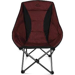 normani Deluxe Campingsessel Relaxsessel XXL Moonchair Schalensitz- Comfort Camping-Stuhl – Gepolsterter Outdoor Klappstuhl, Traglast: 150 Kg (330 lbs)