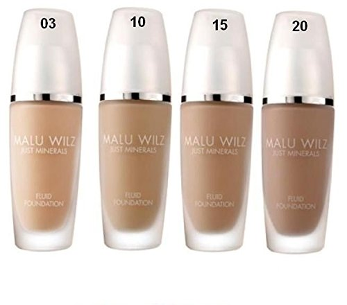 MALU WILZ - Just Minerals - Fluid Foundation Dark Apricot Work Of Art, Nr.15