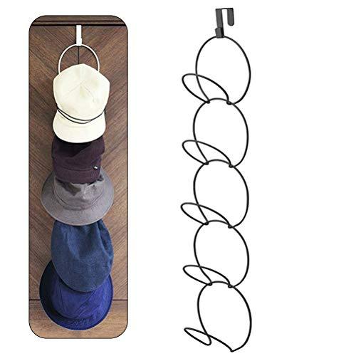 Ysoom Cap Halter, Hangable Hut Racks für Baseball Caps/Hüte/Tücher/Schals/Handtasche und Verschiedene Ornamente, Vertikal Huthalter, über die Tür/Schrank/Wand