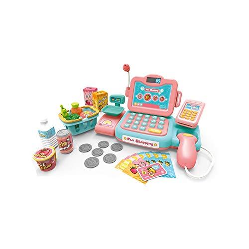 TOYYPAY Smart Toy Multifunktionale Bargeld Jede Familie Spielzeug-Action-Puzzle-Spiel for Kinder und Wirklichkeit, und die Töne for Kinder registrieren und Bildungs-Spielzeug Vorschul (Color : Rosa)